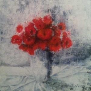 Vaso con fiori rossi – Cod. F9